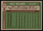 1976 Topps #525  Billy Williams  Back Thumbnail