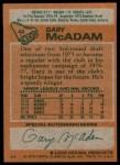 1978 Topps #42  Gary McAdam  Back Thumbnail