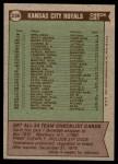 1976 Topps #236   -  Whitey Herzog Royals Team Checklist Back Thumbnail