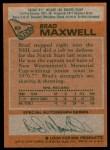 1978 Topps #83  Brad Maxwell  Back Thumbnail