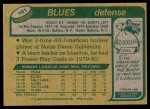 1980 Topps #101  Jack Brownschidle  Back Thumbnail