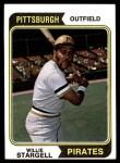 1974 Topps #100  Willie Stargell  Front Thumbnail