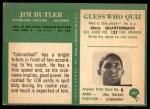 1966 Philadelphia #147  Jim Butler  Back Thumbnail