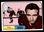 1968 Topps #131  Norm Ullman  Front Thumbnail
