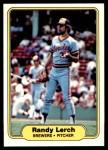 1982 Fleer #147  Randy Lerch  Front Thumbnail