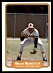 1982 Fleer #168  Wayne Krenchicki  Front Thumbnail