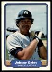 1982 Fleer #47  Johnny Oates  Front Thumbnail