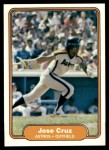 1982 Fleer #214  Jose Cruz  Front Thumbnail