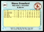 1982 Fleer #291  Steve Crawford  Back Thumbnail