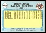 1982 Fleer #608  Danny Ainge  Back Thumbnail