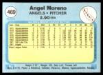 1982 Fleer #469  Angel Moreno  Back Thumbnail