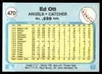 1982 Fleer #470  Ed Ott  Back Thumbnail
