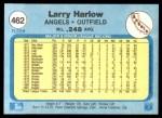 1982 Fleer #462  Larry Harlow  Back Thumbnail