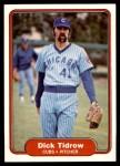 1982 Fleer #604  Dick Tidrow  Front Thumbnail