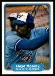 1982 Fleer #621  Lloyd Moseby  Front Thumbnail