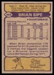 1979 Topps #353  Brian Sipe  Back Thumbnail