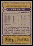 1979 Topps #521  John Bunting  Back Thumbnail