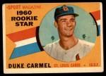 1960 Topps #120   -  Duke Carmel Rookie Star Front Thumbnail