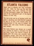 1967 Philadelphia #12   Atlanta Falcons Logo Back Thumbnail