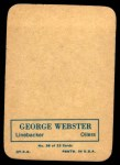 1970 Topps Glossy #26  George Webster  Back Thumbnail