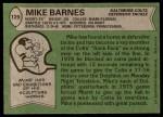 1978 Topps #129  Mike Barnes  Back Thumbnail