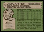 1978 Topps #174  Jim Carter  Back Thumbnail