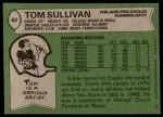 1978 Topps #62  Tom Sullivan  Back Thumbnail
