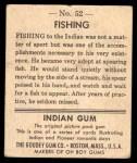 1947 Goudey Indian Gum #52   Fishing Back Thumbnail