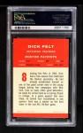 1963 Fleer #8  Dick Felt  Back Thumbnail