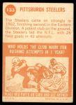 1963 Topps #133   Steelers Team Back Thumbnail