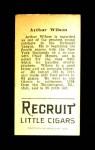 1912 T207  Art Wilson    Back Thumbnail