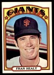 1972 Topps #663  Fran Healy  Front Thumbnail