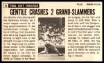 1964 Topps Giants #15  Jim Gentile   Back Thumbnail