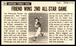 1964 Topps Giants #28  Bob Friend  Back Thumbnail