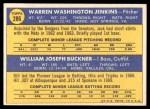 1970 Topps #286   -  Bill Buckner / Jack Jenkins Dodgers Rookies Back Thumbnail