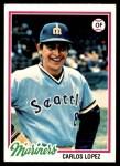 1978 Topps #166  Carlos Lopez  Front Thumbnail