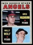 1970 Topps #74   -  Greg Washburn / Wally Wolf Angels Rookies Front Thumbnail