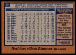 1978 Topps #63  Don Zimmer  Back Thumbnail