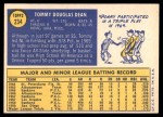 1970 Topps #234  Tommy Dean  Back Thumbnail