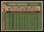 1976 Topps #95  Brooks Robinson  Back Thumbnail