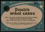 1963 Topps Astronaut Popsicle #33   Glenn and the F-106 Back Thumbnail