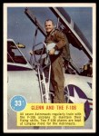 1963 Topps Astronaut Popsicle #33   Glenn and the F-106 Front Thumbnail