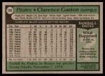 1979 Topps #208  Cito Gaston  Back Thumbnail