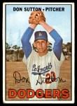 1967 Topps #445  Don Sutton  Front Thumbnail
