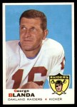 1969 Topps #232  George Blanda  Front Thumbnail