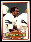 1980 Topps #393  Benny Barnes  Front Thumbnail