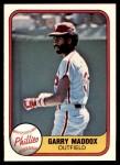1981 Fleer #19  Garry Maddox  Front Thumbnail