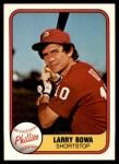 1981 Fleer #2  Larry Bowa  Front Thumbnail