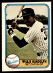 1981 Fleer #109  Willie Randolph  Front Thumbnail