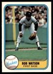 1981 Fleer #93  Bob Watson  Front Thumbnail